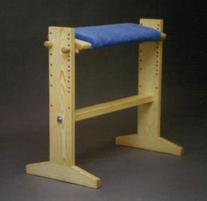 Vävstuga Bench, padded with tilt adjustment