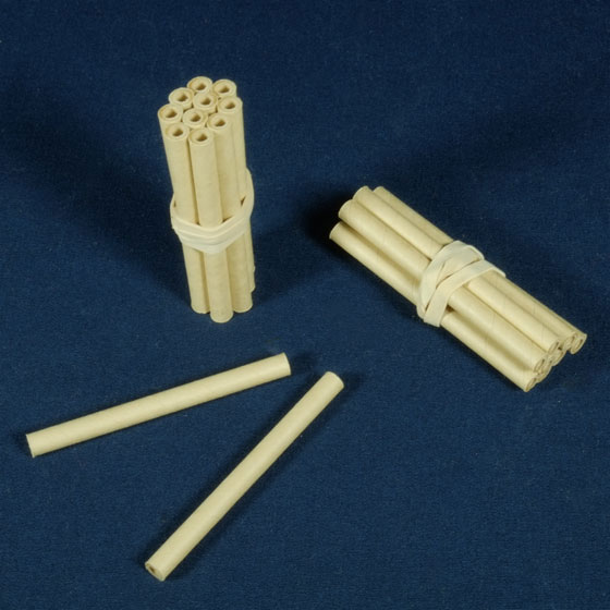 paper quills regular spindle bundle of 10 range of sizes
